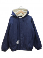 SUPREME×Champion(シュプリーム×チャンピオン)の古着「コラボフーデットジャケット」|ネイビー×ホワイト