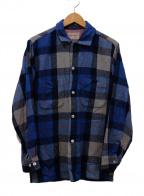 TOWN CRAFT(タウンクラフト)の古着「古着ウールチェックシャツ」 ブルー×レッド