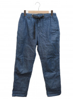 LOWLOOM(ロールーム)の古着「クライミングシャンブレーデニムパンツ」|インディゴ