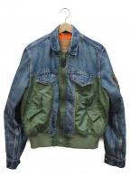 LEVIS PReMIUM(リーバイス プレミアム)の古着「MA-1ハイブリッドトラッカージャケット」|グリーン