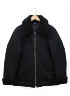 wjk(ダブルジェイケー)の古着「ボアカラージャケット」|ブラック