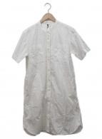 MHL(エムエイチエル)の古着「半袖シャツワンピース」|ホワイト