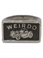 WEIRDO(ウィアード)の古着「HOTROD CARモチーフリング」
