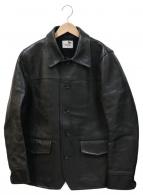 GANGSTERVILLE(ギャングスタービル)の古着「カウレザージャケット」|ブラック