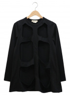 COMME des GARCONS(コムデギャルソン)の古着「オープンデザインカットソー」|ブラック