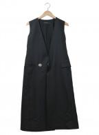 DRESSEDUNDRESSED(ドレスドアンドレスド)の古着「ロングデザインジレ」 ブラック