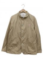 DANTON()の古着「ラウンドカラーシングルジャケット」|ベージュ