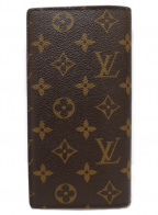 LOUIS VUITTON()の古着「ポルトフォイユ・ブラザ/長財布」|ブラウン×ベージュ