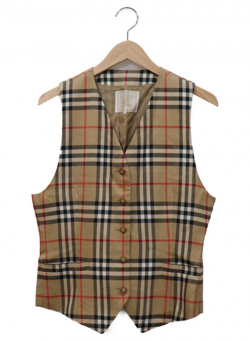 Burberrys(バーバリーズ)Burberrys (バーバリーズ) ノバチェックジレ ベージュ×ブラック サイズ:9 FYA51-017の古着・服飾アイテム