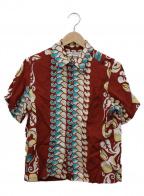 Sun Surf(サンサーフ)の古着「アロハシャツ」|ボルドー×アイボリー