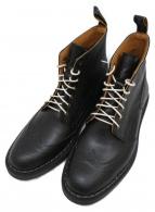 ()の古着「ウィングチップブーツ」|ブラック