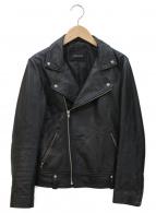 simplicite(シンプリシテェ)の古着「レザーライダースジャケット」 ブラック