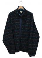 ()の古着「総柄フリースジャケット」|ネイビー