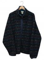 L.L.Bean(エルエルビーン)の古着「総柄フリースジャケット」 ネイビー