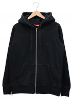 Supreme()の古着「Rib Logo Zip Up Sweat」|ブラック