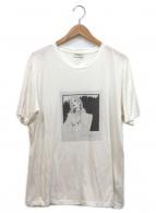 Saint Laurent Paris(サンローランパリ)の古着「プリントTシャツ」|ホワイト×ブラック
