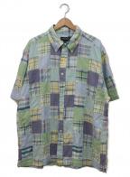 BROOKS BROTHERS(ブルックスブラザーズ)の古着「パッチワークボタンダウンシャツ」|ブルー