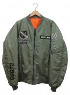 AVIREX(アヴィレックス)の古着「MA-1フライトジャケット」|カーキ