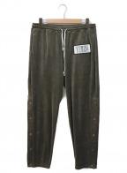 Black Weirdos(ブラック ウィドゥ)の古着「Velor Sweat Pants」|グレー