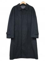 VISARUNO(ビサルノ)の古着「カシミヤステンカラーコート」 グレー
