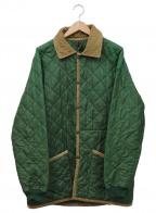 LAVENHAM(ラベンハム)の古着「キルティングジャケット」 グリーン×ベージュ