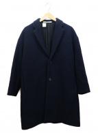 N.HOOLYWOOD(ミスターハリウッド)の古着「ドロップショルダーオーバーサイズコート」|ネイビー