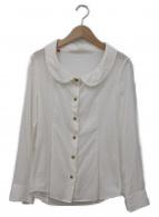 ()の古着「デザインブラウス」 ホワイト