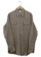 ()の古着「復刻ウエスタンネルシャツ」 ベージュ×ブラウン