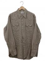 LEVI'S()の古着「復刻ウエスタンネルシャツ」 ベージュ×ブラウン