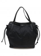 BURBERRY PRORSUM(バーバリープローサム)の古着「パッカブルナイロントートバッグ」|ブラック