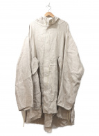 thibaut(ティボー)の古着「フーデットリネンコート」|アイボリー