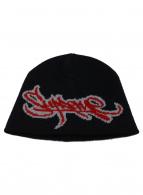 ()の古着「ニット帽」|ブラック×レッド