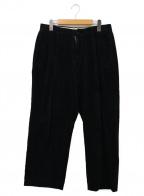 NAUTICA(ノーティカ)の古着「ビッグコーデュロイパンツ」|ブラック
