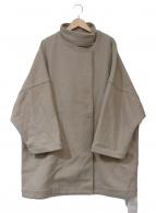 ()の古着「スタンドカラーオーバーコート」|ベージュ