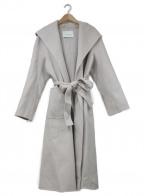 ANAYI(アナイ)の古着「フーデッドトッパーウールコート」|ライトグレー