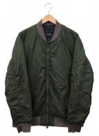 ()の古着「ナイロンシェルMA-1ジャケット」 カーキ