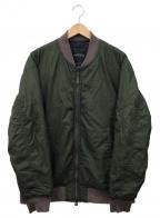 green label relaxing(グリーンレーベルリラクシング)の古着「ナイロンシェルMA-1ジャケット」|カーキ