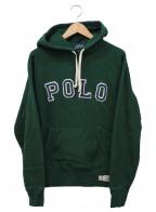 POLO RALPH LAUREN(ポロ・ラルフローレン)の古着「POLOロゴプルオーバーパーカー」|グリーン×ネイビー