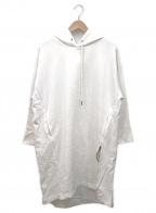 MAYSON GREY(メイソングレイ)の古着「フーデッドワンピース」|ホワイト