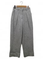 ()の古着「カットオフウールパンツ」 ライトグレー