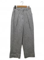 UNUSED(アンユーズド)の古着「カットオフウールパンツ」|ライトグレー