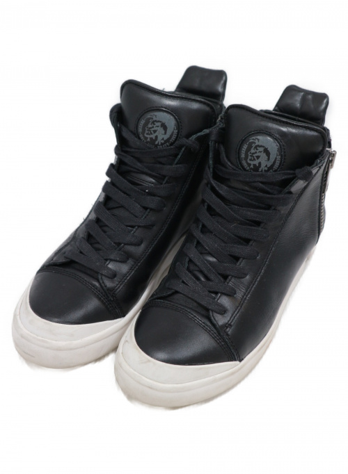DIESEL(ディーゼル)DIESEL (ディーゼル) ハイカットスニーカー ブラック サイズ:(US)8.5 (EUR)41 (JPN)26.5の古着・服飾アイテム