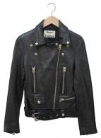 Acne studios(アクネストゥディオズ)の古着「ダブルライダースジャケット」|ブラック