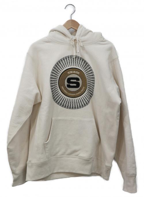 SUPREME(シュプリーム)SUPREME (シュプリーム) Chenille Applique Hooded Swea ベージュ サイズ:Mediumの古着・服飾アイテム