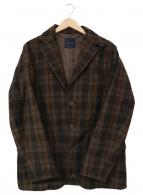 ()の古着「テーラードジャケット」|ブラウン×ブラック