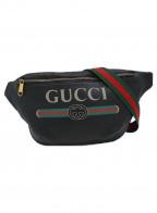 GUCCI()の古着「ヴィンテージロゴウエストバッグ」|ブラック