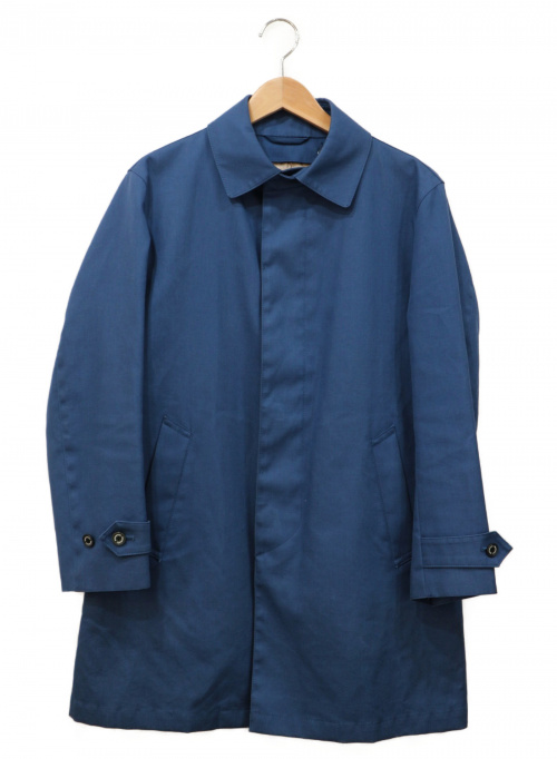 MACKINTOSH PHILOSOPHY(マッキントッシュフィロソフィー)MACKINTOSH PHILOSOPHY (マッキントッシュフィロソフィー) ステンカラーハーフコート ネイビー サイズ:36の古着・服飾アイテム