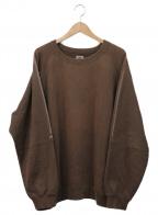 POST O'ALLS(ポストオーバーオールズ)の古着「クルーネックビッグスウェット」|ブラウン