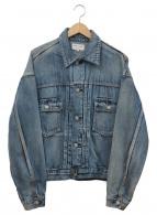 ()の古着「ショートビッグデニムジャケット」|インディゴ