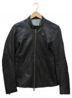 SHIPS JET BLUE(シップスジェットブルー)の古着「ラムレザージャケット」 ブラック